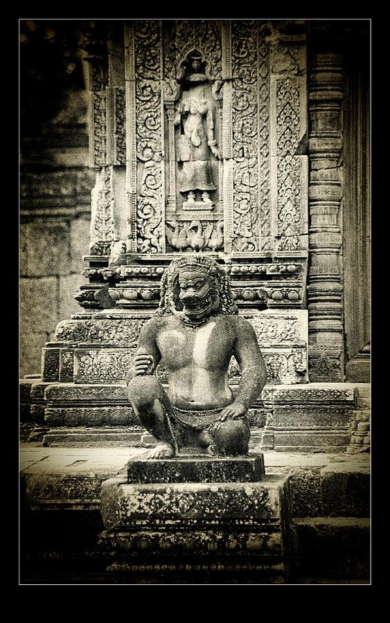 Gate Keeper Photograph - Dvarapala At Banteay Srey by Weston Westmoreland