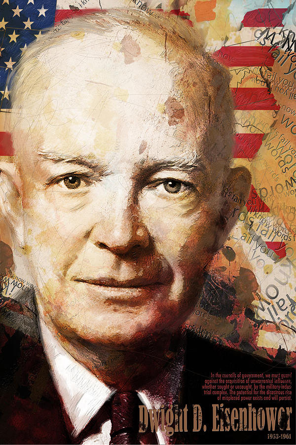 Ike Painting - Dwight D. Eisenhower by Corporate Art Task Force