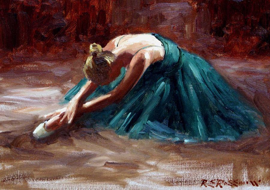 Ballet Painting - Dying Swan by Roelof Rossouw
