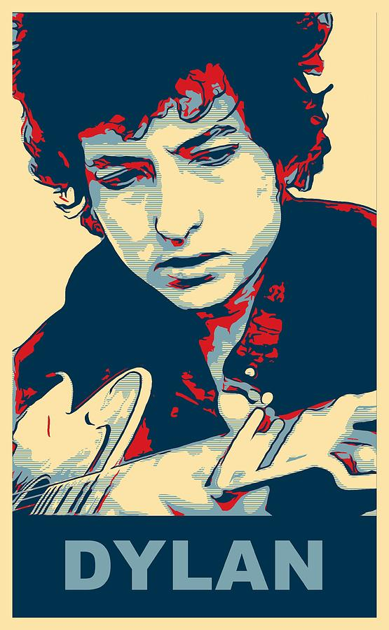 Bob Dylan Mixed Media - Dylan by Dan Sproul