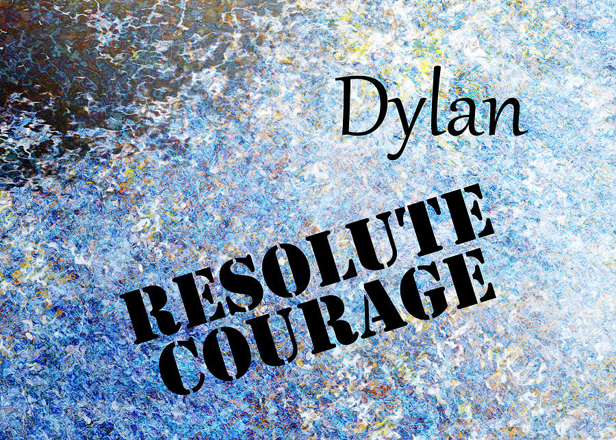 Listening Painting - Dylan - Resolute Courage by Christopher Gaston