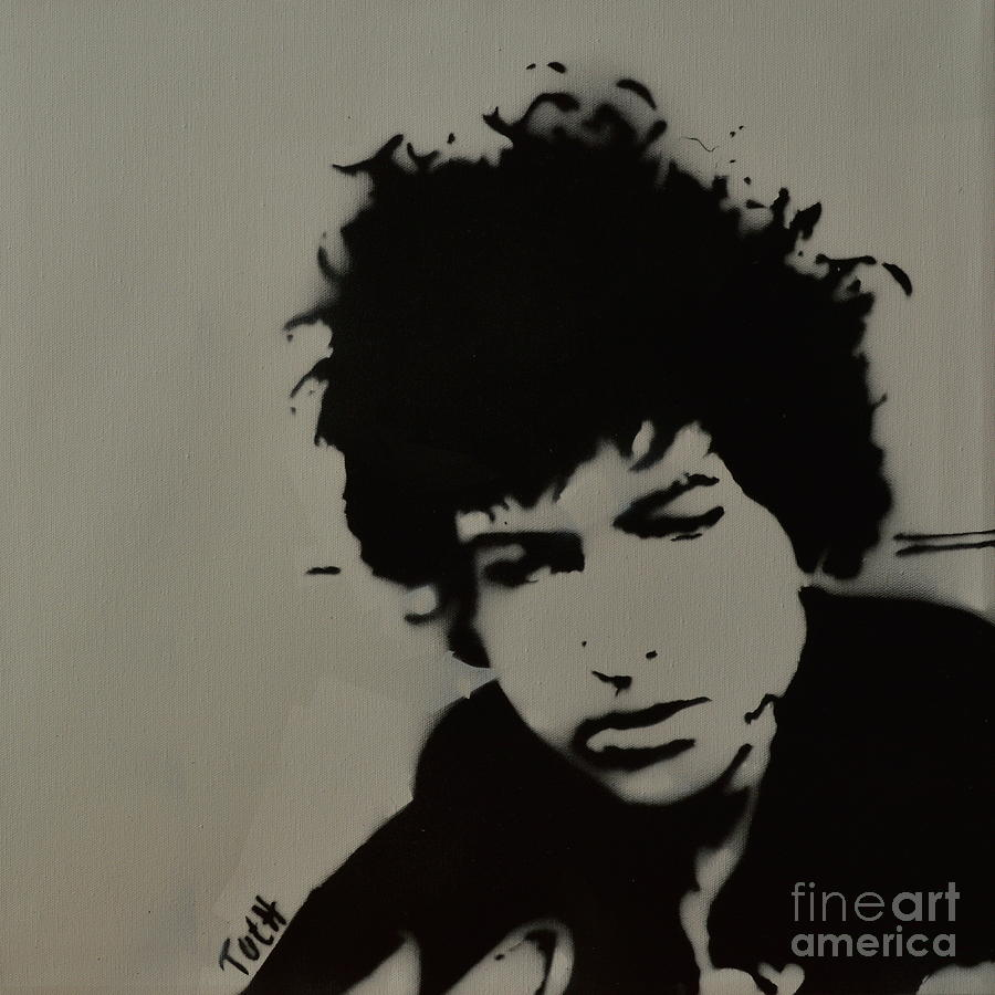 Dylan Spray Art Painting by Laura Toth