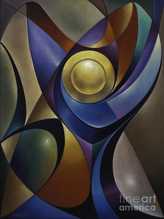 Stained-glass Painting - Dynamic Chalice by Ricardo Chavez-Mendez