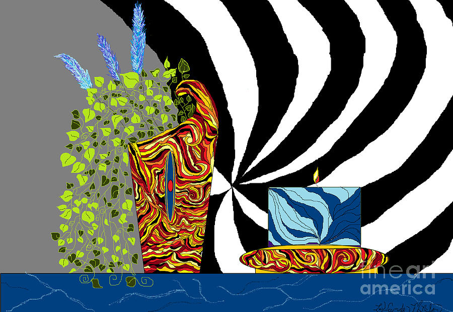 Flowers Digital Art - Dynamic Decor by Lewanda Laboy