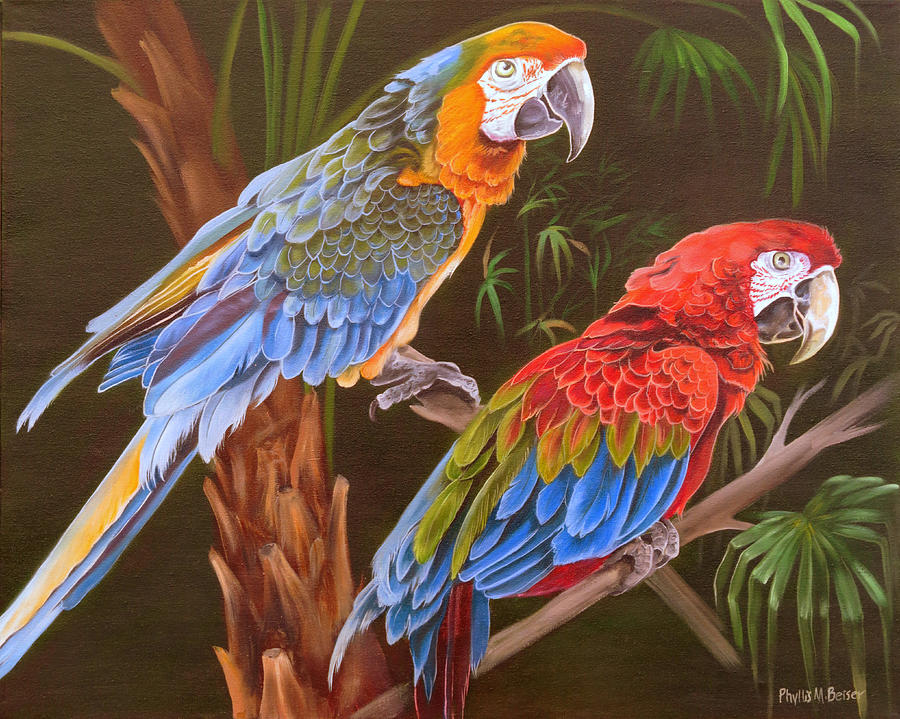 Birds Painting - Dynamic Duo by Phyllis Beiser