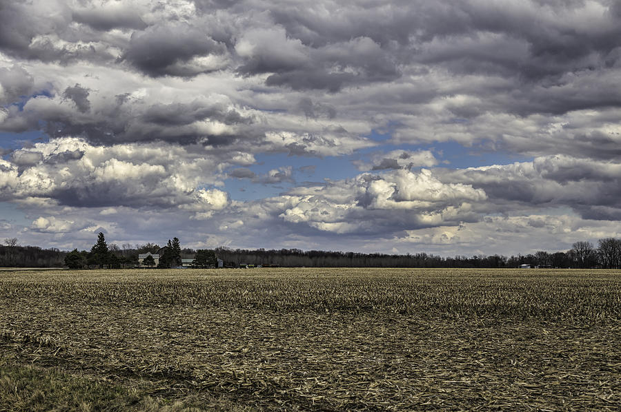Spring Storm Photograph - Dynamic Farmland Landscape by Thomas Young