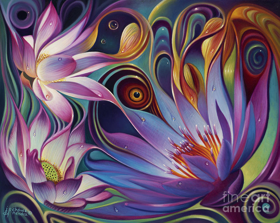 Dynamic Floral Fantasy Painting