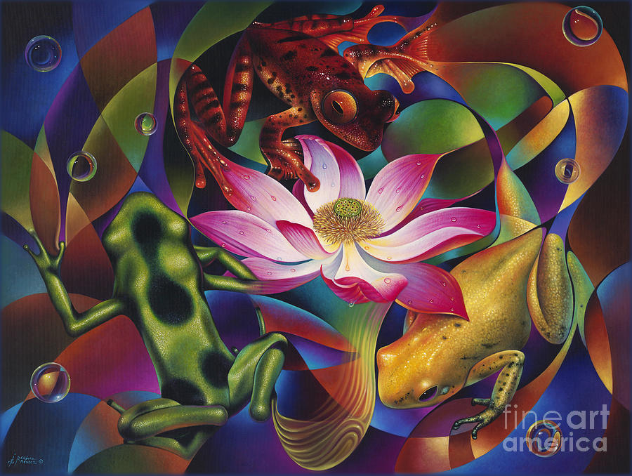 Dynamic Frogs Painting