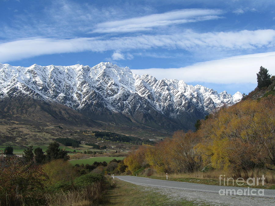 Queenstown Photograph - Dynamic Mountains  by  Lines