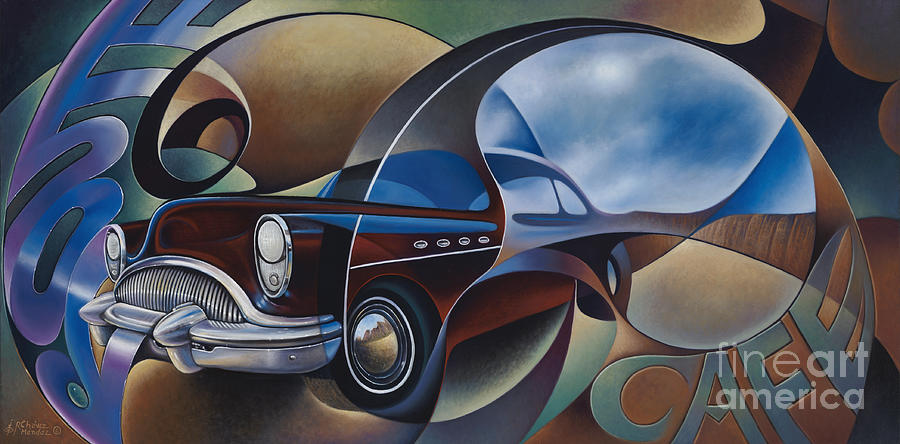 Route 66 Painting - Dynamic Route 66 by Ricardo Chavez-Mendez