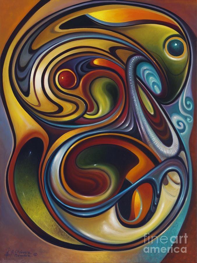 Multi-color Painting - Dynamic Series #15 by Ricardo Chavez-Mendez
