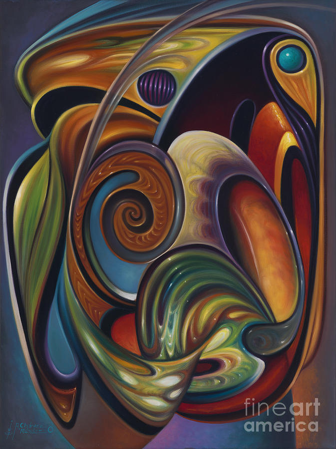 Stained-glass Painting - Dynamic Series #16 by Ricardo Chavez-Mendez