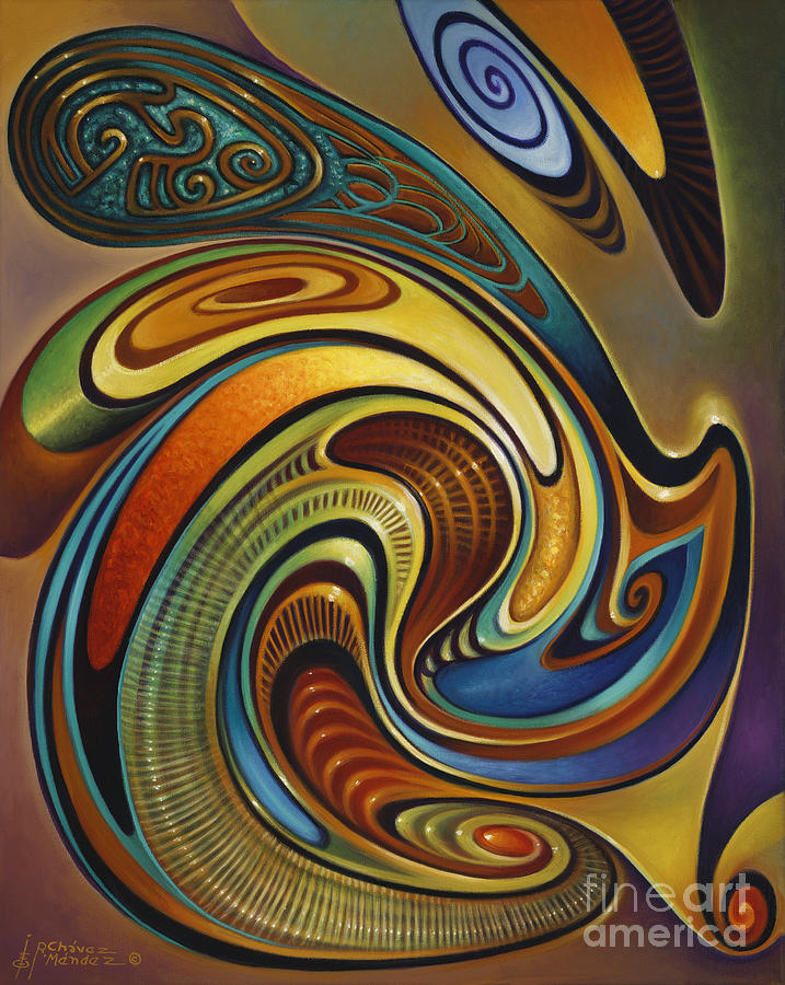 Curvismo Painting - Dynamic Series #19 by Ricardo Chavez-Mendez