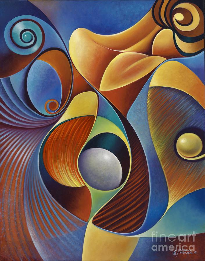 Female Painting - Dynamic Series #22 by Ricardo Chavez-Mendez