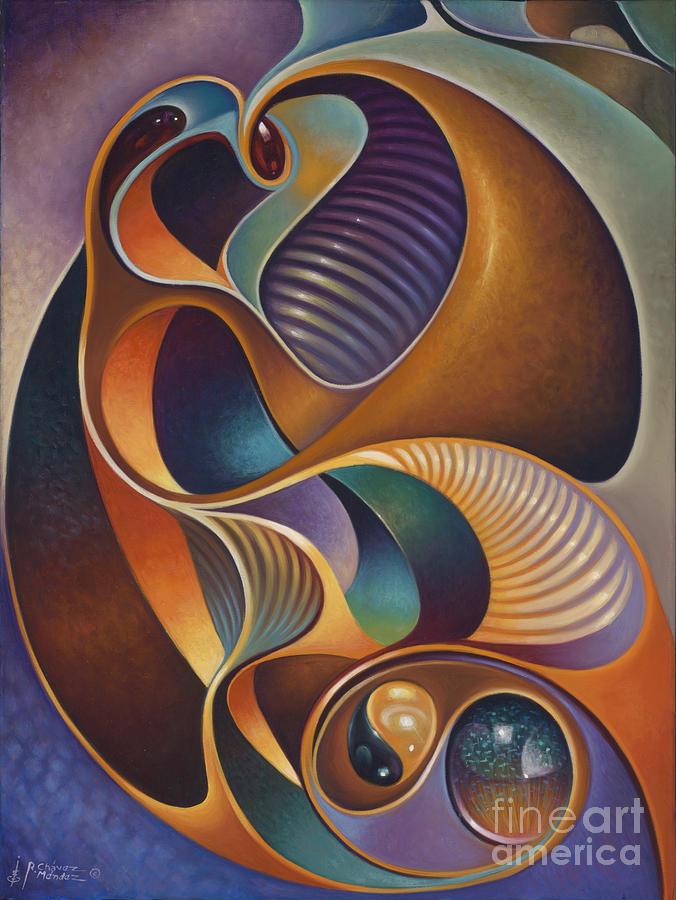 Ying-yang Painting - Dynamic Series #23 by Ricardo Chavez-Mendez