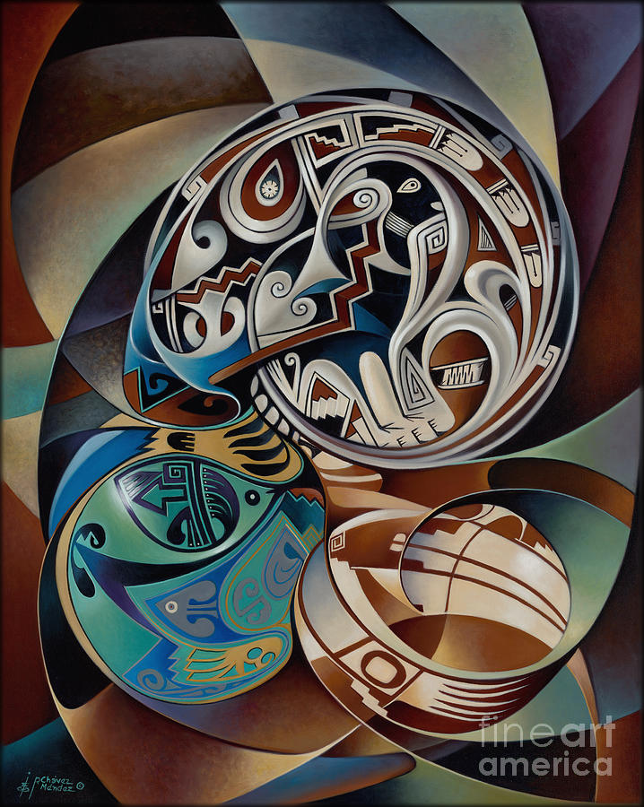 Abstract Painting - Dynamic Still Il by Ricardo Chavez-Mendez