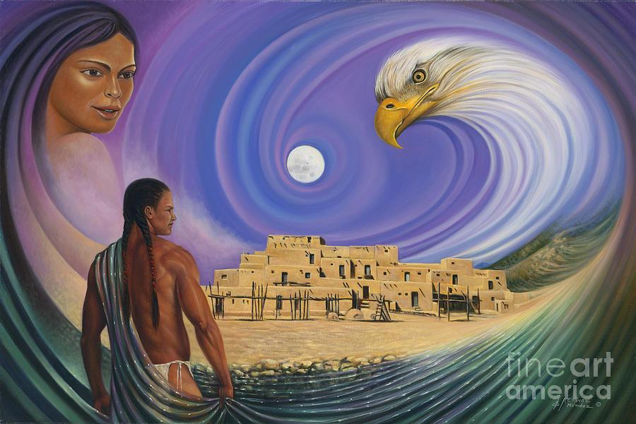 Taos Painting - Dynamic Taos I by Ricardo Chavez-Mendez