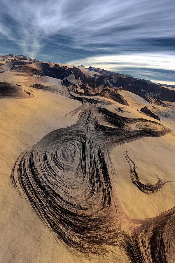 Landscape Digital Art - Dynamic World  I  by Jean Paul Thierevere