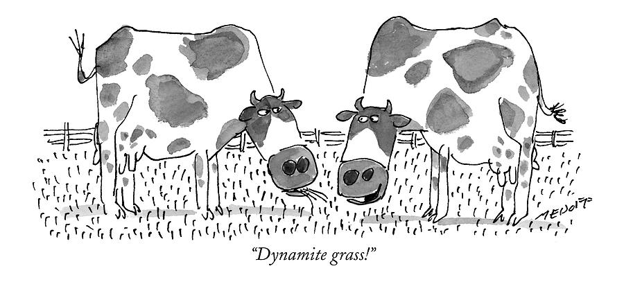Dynamite Grass! Drawing by Jack Medof