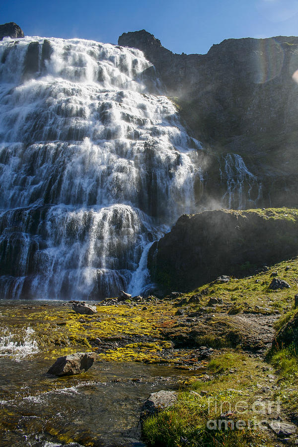 Flow Photograph - Dynjandi waterfall in ICeland by Patricia Hofmeester