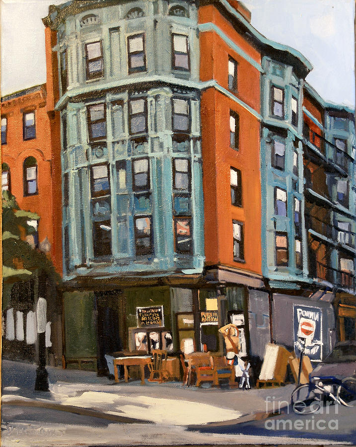 South Boston Painting - E And W Broadway by Deb Putnam