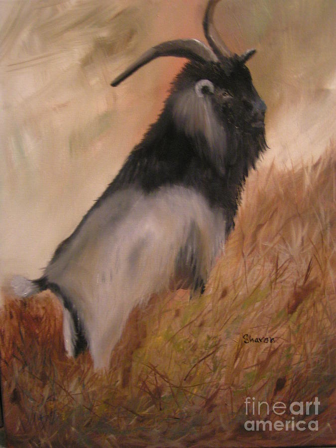 Goat Painting - E I E I O by Sharon Burger