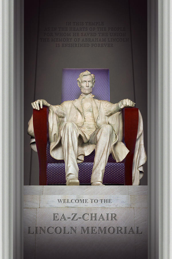 Landmarks Photograph - Ea-z-chair Lincoln Memorial 2 by Mike McGlothlen