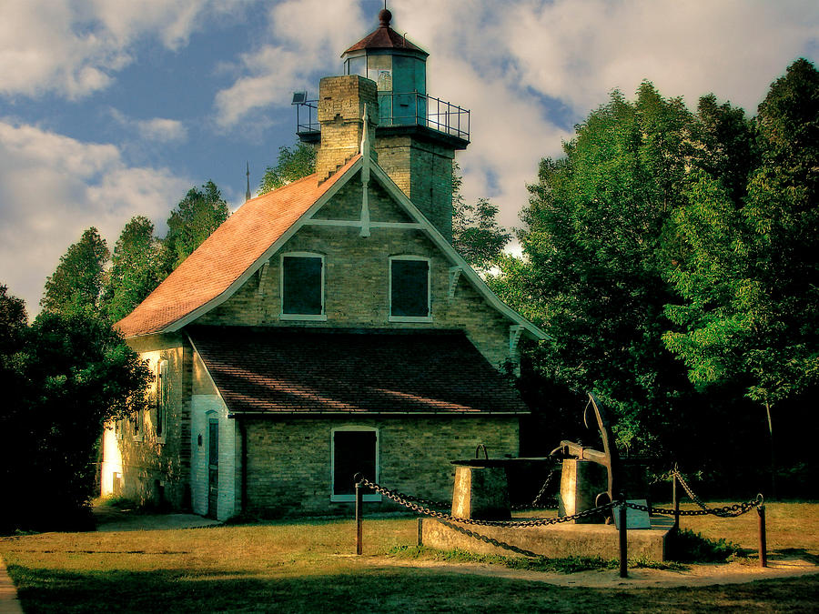 Eagle Bluff Lighthouse Photograph - Eagle Bluff Light 2.0 by Michelle Calkins