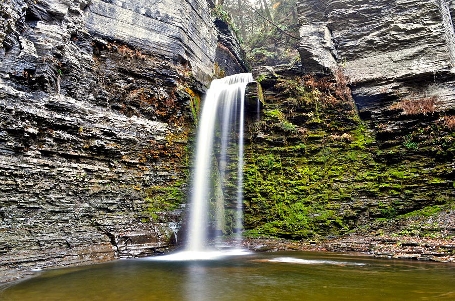 Waterfall Photograph - Eagle Cliff Falls by Frozen in Time Fine Art Photography