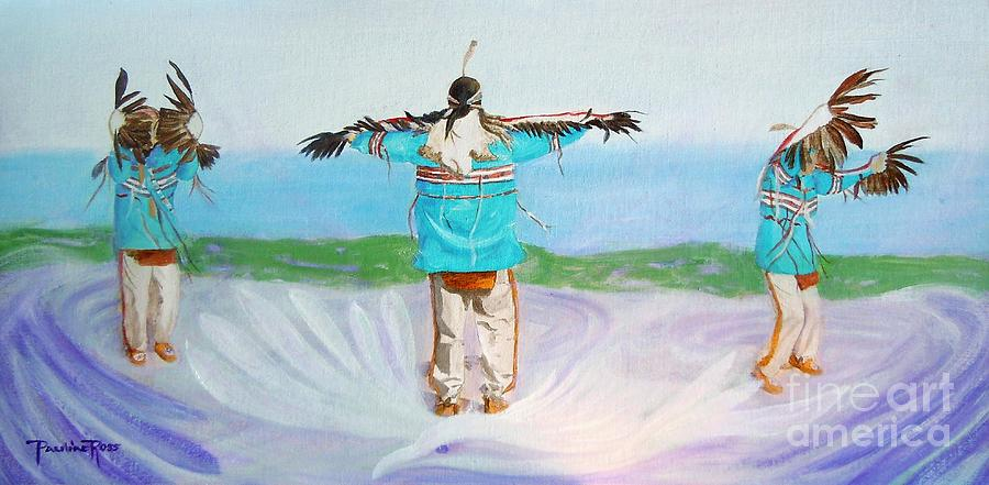 Spirits Painting - Eagle Dance by Pauline Ross