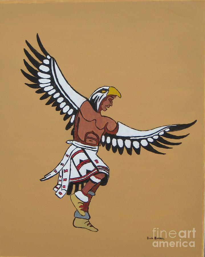 Native American Drawing - Eagle Dancer by Bud  Barnes