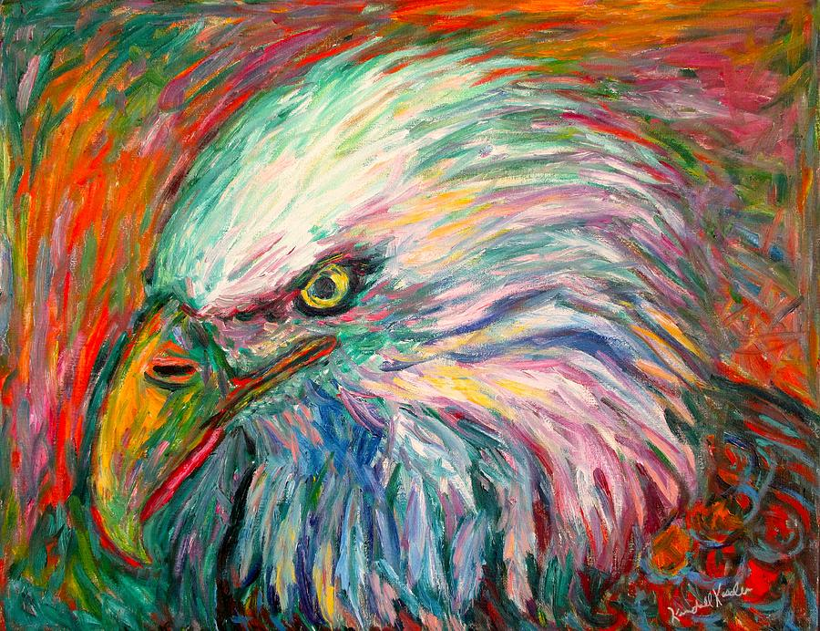 Abstract Eagle Painting - Eagle Fire by Kendall Kessler