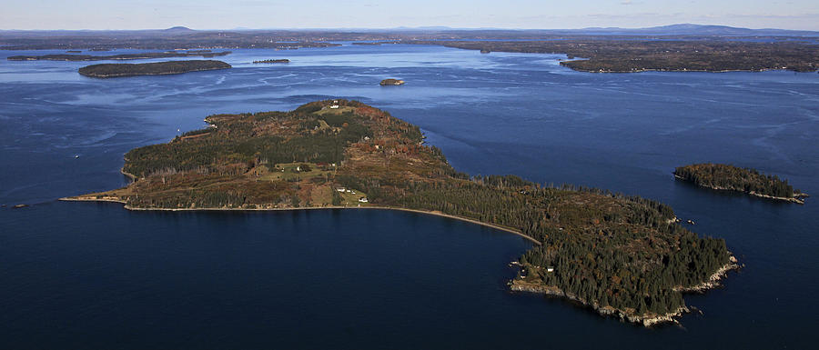 America Photograph - Eagle Island, Penobscot Bay by Dave Cleaveland