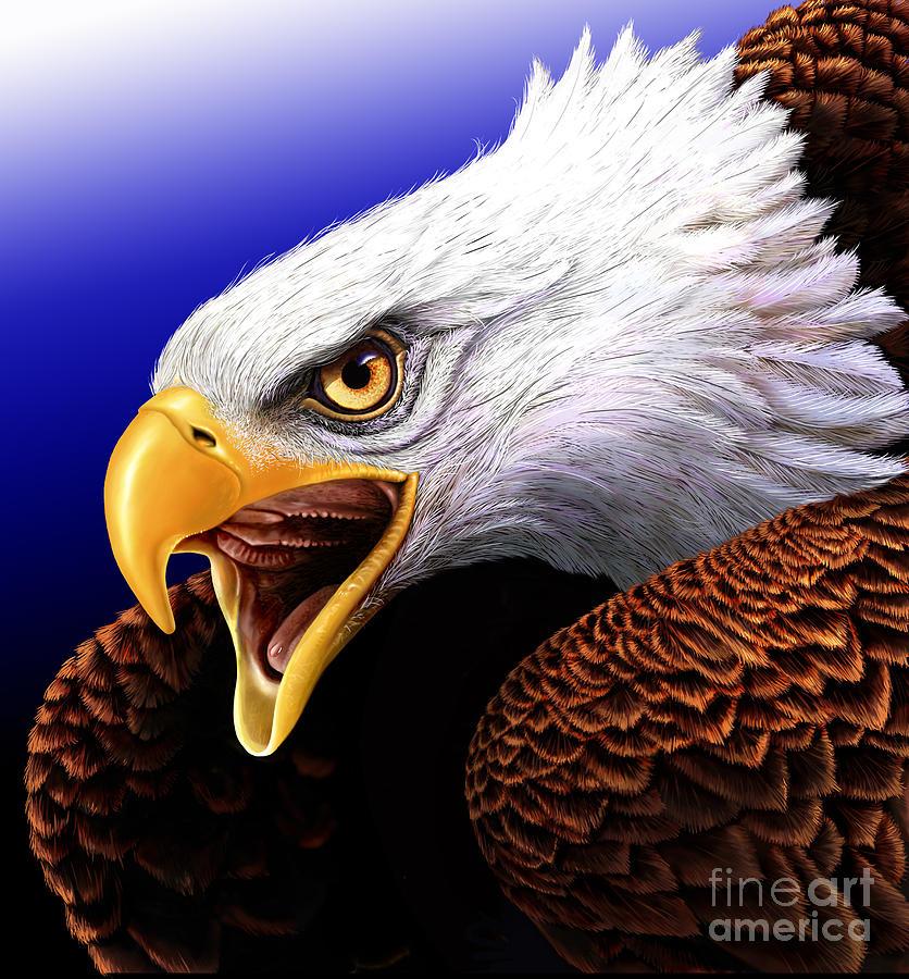 Eagle Digital Art - Eagle by Jurek Zamoyski