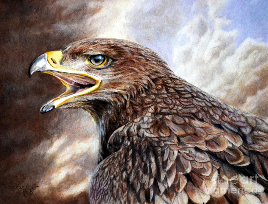 Eagle Cry Painting By Lachri