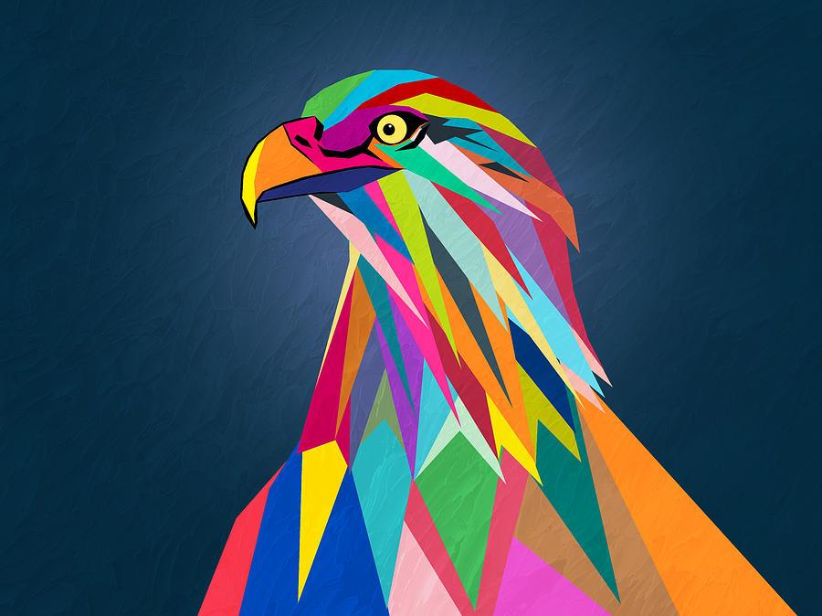 Eagle Painting - Eagle by Mark Ashkenazi