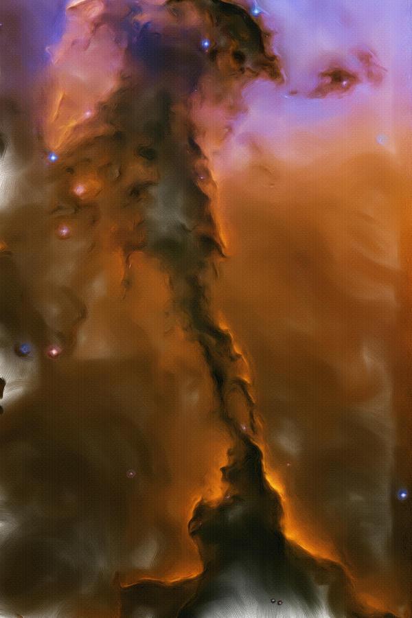 Eagle Nebula Painting - Eagle Nebula by Inspirowl Design