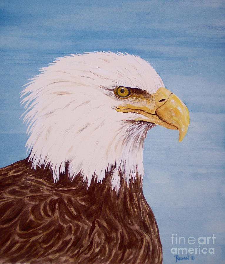 Eagle Painting - Eagle by Regan J Smith