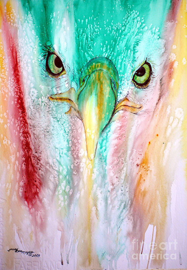 Paintings Painting - Eagle Vision by Tracy Rose Moyers