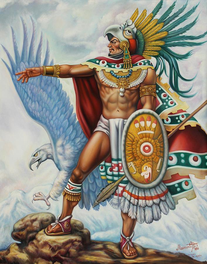 Eagle Warrior Arturo Miramontes on Aztec Dance Headdress