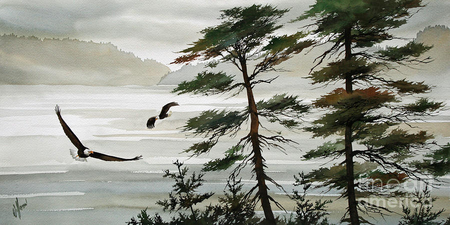 Eagles Eden Painting by James Williamson