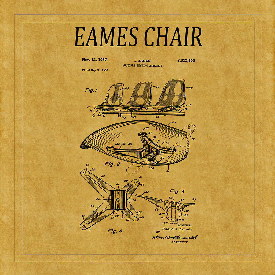 Eames Chair Patent 3 Photograph