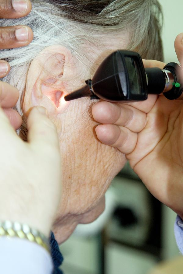 Equipment Photograph - Ear Examination by Life In View/science Photo Library