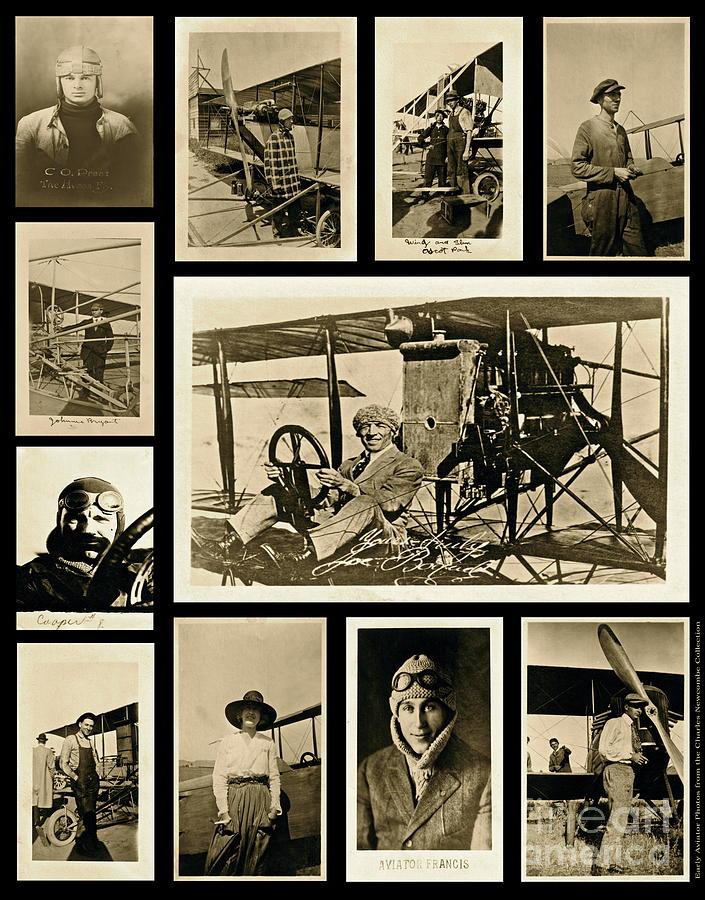 Pilot Photograph - Earlier Aviators by Gwyn Newcombe