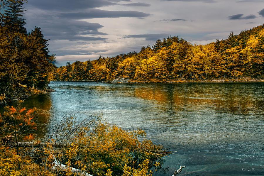 Androscoggin River Photograph - Early Autumn Along The Androscoggin River by Bob Orsillo
