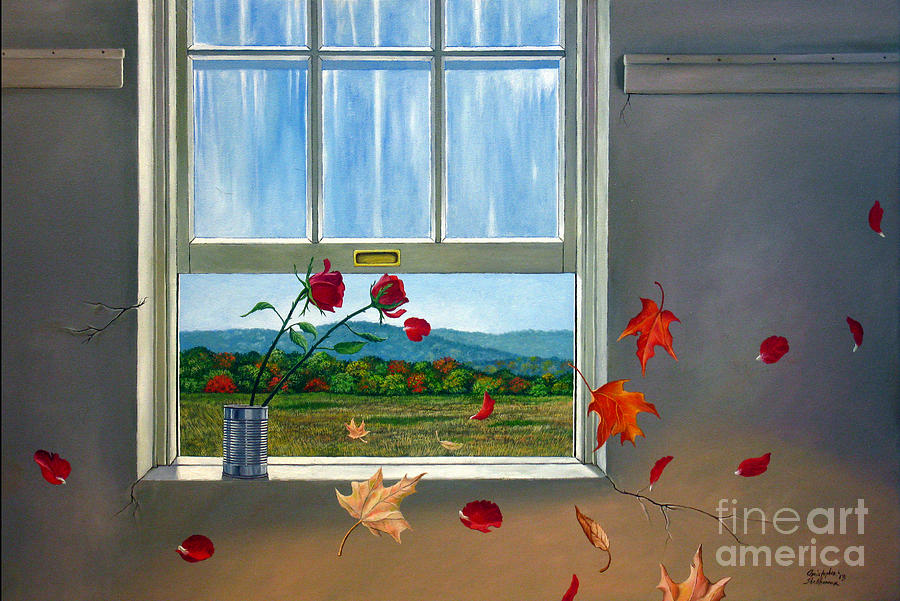 Rose Painting - Early Autumn Breeze by Christopher Shellhammer