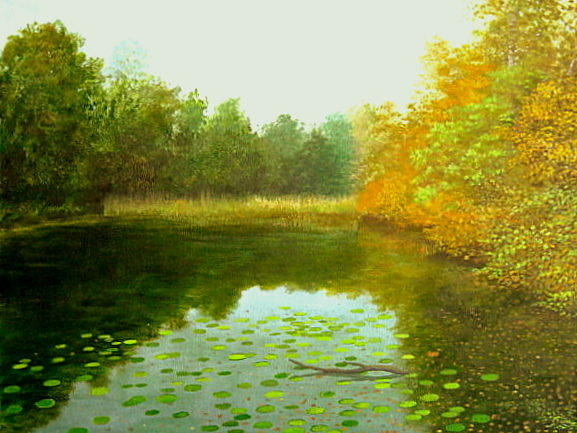Lake Painting - Early Autumn by Erno Saller