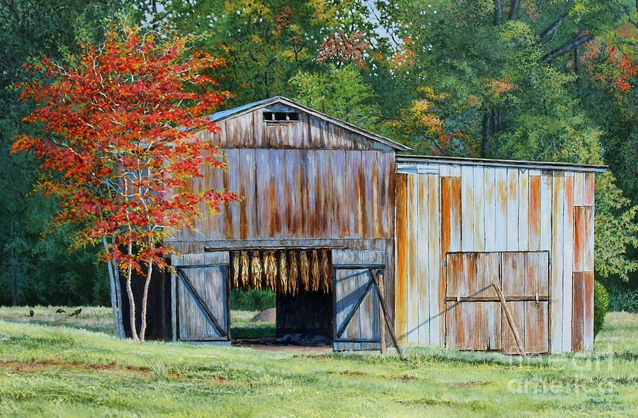 Early Autumn In Kentucky - Dark-fired Tobacco Barn ...