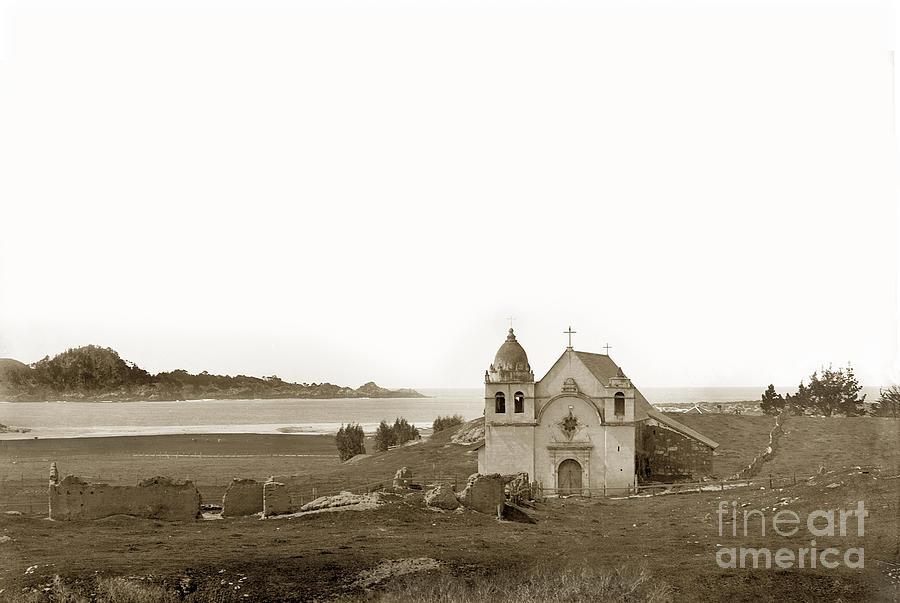 Early Carmel Mission And Point Lobos California Circa 1884 ...