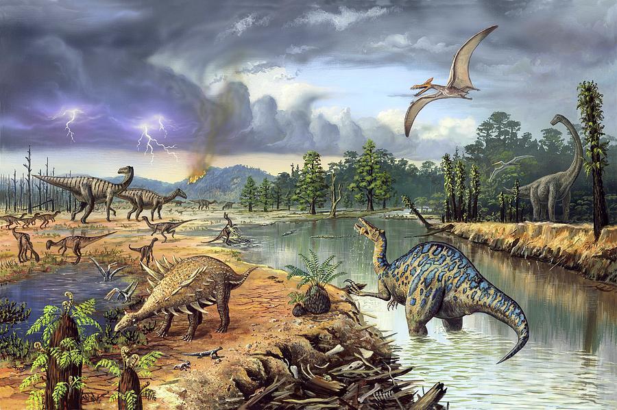 Hypsilophodon Photograph - Early Cretaceous Life by Richard Bizley